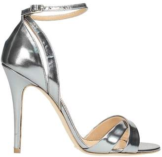 The Seller Mirror Silver Leather Sandals