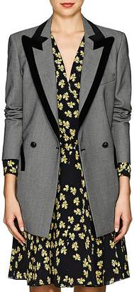 BLAZÉ MILANO Women's Everyday Velvet-Trimmed Birdseye Wool Blazer