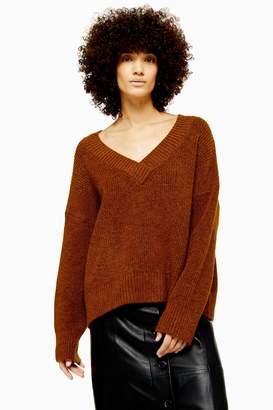 Topshop Knitted Super Soft V-Neck Jumper