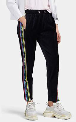 "Mira Mikati Women's ""Adrenaline Seekers"" Velvet Track Pants - Navy"