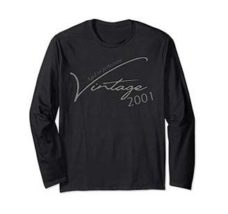 Vintage 2001 - 17th Birthday Gifts - Long Sleeve T-Shirt