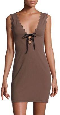 Marysia Amagansett Lace-Up Dress $363 thestylecure.com