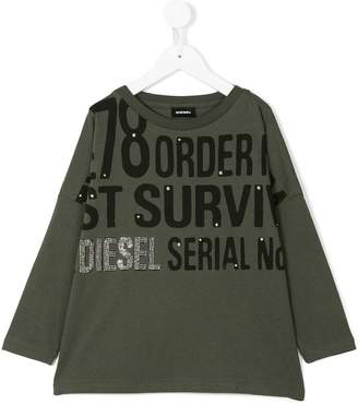 Diesel printed long sleeve shirt
