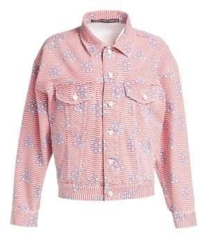 Alexander Wang Stars & Stripes Denim Jacket