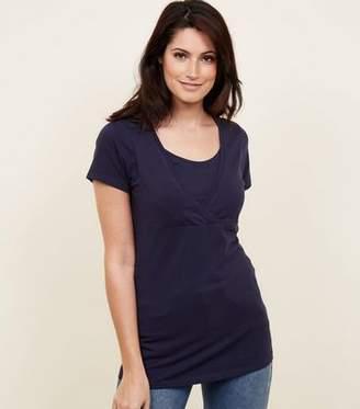 New Look Maternity Navy Nursing T-shirt
