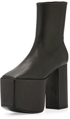 Balenciaga Wayio Leather Super Platform Bootie, Noir $1,135 thestylecure.com