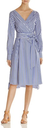 Weekend Max Mara Vanesio Striped Poplin Wrap Dress - 100% Exclusive $475 thestylecure.com