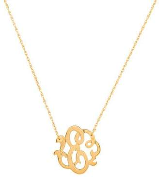 Jennifer Zeuner Jewelry Emily Small Swirly Initial E Pendant Necklace