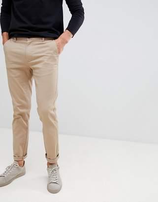 Burton Menswear Skinny Fit Chinos In Tan
