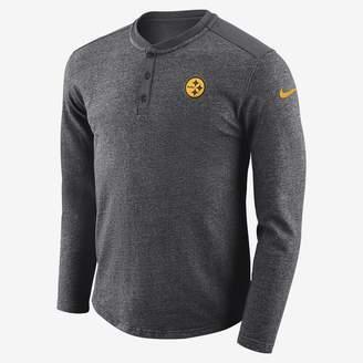 Nike NFL Steelers) Men's Long-Sleeve Henley