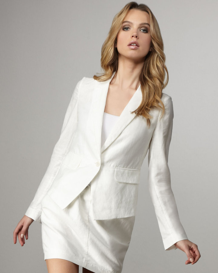 Elizabeth and James Emery Linen-Cotton Blazer
