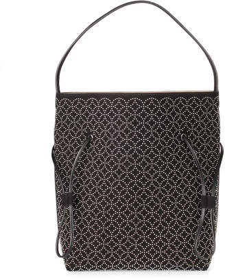 Alaia Black suede studded tote