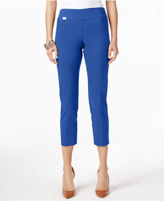 Alfani Petite Tummy-Control Pull-On Capri Pants