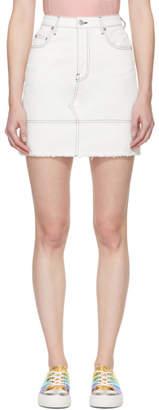 MSGM White Denim Miniskirt