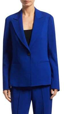 A.L.C. Button-Front Notched Blazer