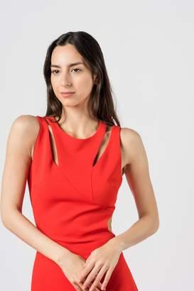 Badgley Mischka Asymmetric Back Dress
