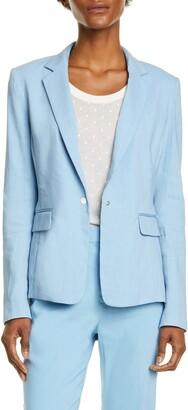 Rag & Bone Lucy Linen Blend Blazer
