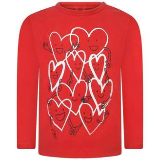 Stella McCartney KidsBaby Girls Red Smiley Hearts Georgie Top