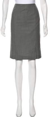 Akris Punto Knee-Length Wool Pencil Skirt