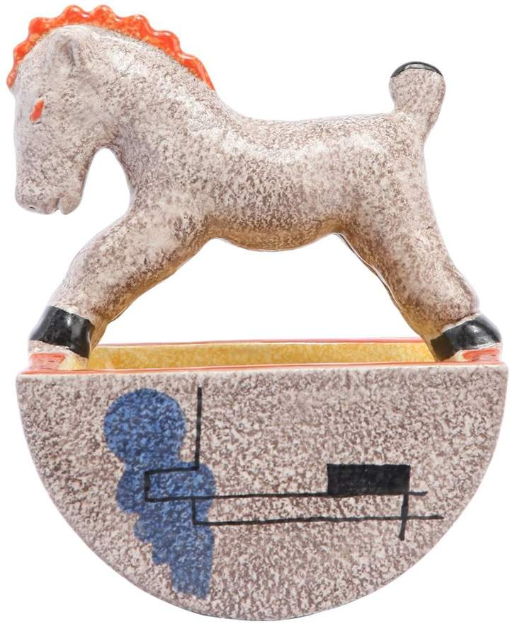Handmade Small Horse With Basket