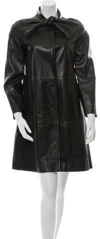 Valentino Valentino Paneled Leather Coat w/ Tags