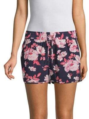 Joie Layana Floral Silk Shorts