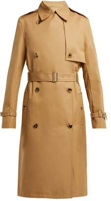 Paco Rabanne Double Breasted Cotton Twill Trench Coat - Womens - Beige