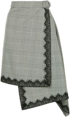 Robert Rodriguez checked asymmetric skirt