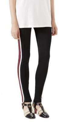 Gucci Tech Jersey Stripe Stirrup Pants