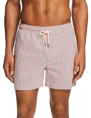 Solid & Striped Classic Striped Santorini Swim Trunks