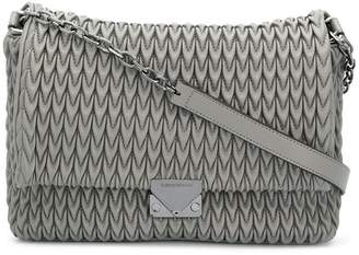 Emporio Armani quilted teardrop motif shoulder bag