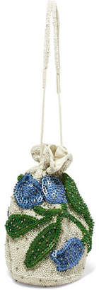 Orsay Embellished Chiffon Pouch - White