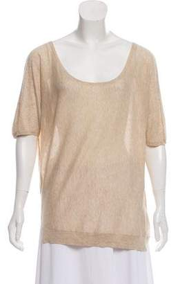 Zadig & Voltaire Scoop Neck Short Sleeve Top