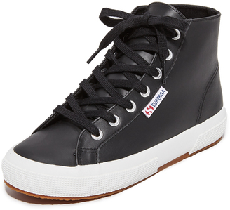 Superga 2795 Leather Hi Top Sneakers $109 thestylecure.com