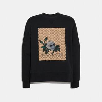 Coach Signature Skull Sweatshirt