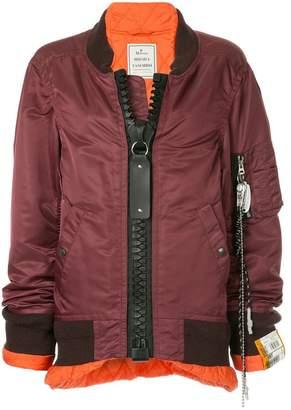 Puma Maison Yasuhiro big zip ma-1 jacket