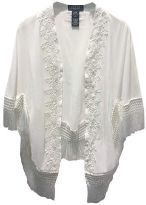 Laundry by Shelli Segal Sheer Lace Kimono