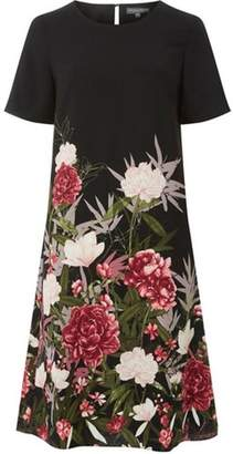 Dorothy Perkins Womens **Tall Black Floral Border Shift Dress