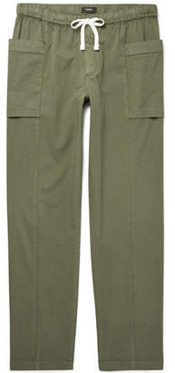 Theory Stretch Cotton-Twill Drawstring Trousers