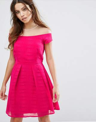 Little Mistress Capped Sleeve Skater Dress $43 thestylecure.com