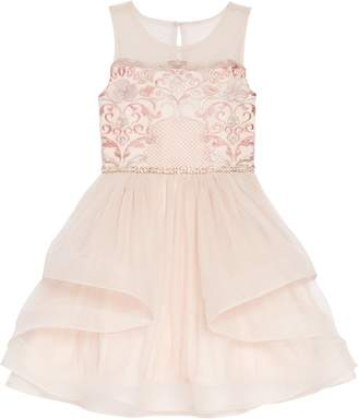 Blush by Us Angels Sleeveless Embroidered Fit & Flare Dress