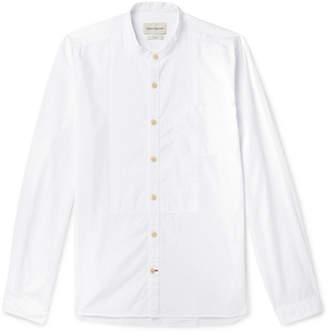 Oliver Spencer Grandad-Collar Bib-Front Organic Cotton Shirt