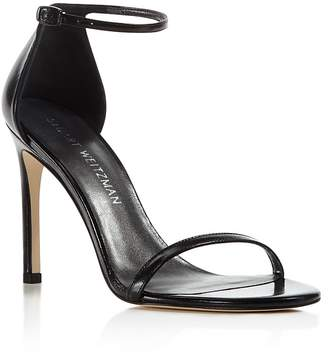 Stuart Weitzman Nudistsong Leather Ankle Strap Sandals