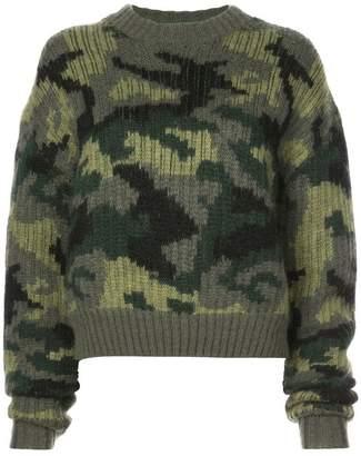 Proenza Schouler PSWL Camo Jacquard Sweater