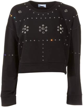 Dondup Cropped Embellished Sweatshirt