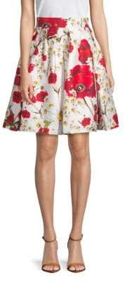 Dolce & Gabbana Cotton & Silk Floral Skirt