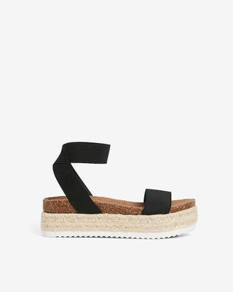 Express Stretch Strap Platform Espadrille Sandals