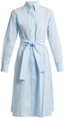 Thom Browne Self-tie cotton-poplin shirtdress