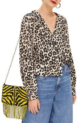 Topshop Jessica Animal Print Blouse