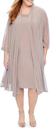 R & M Richards 3/4 Sleeve Jacket Dress - Plus
